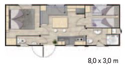 Mobilhome 4-5 personnes